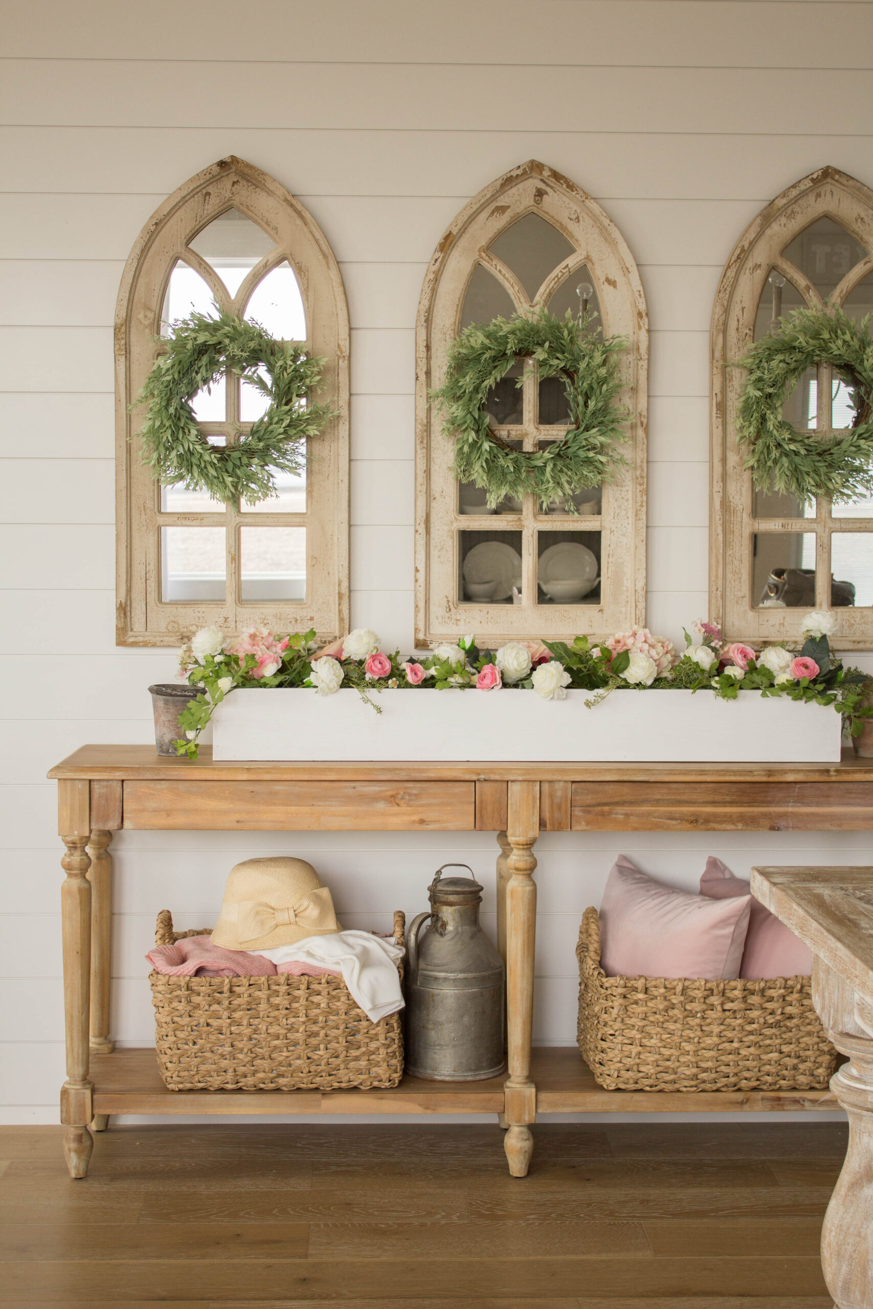 Image of: Diy Wood Planter Box Centerpiece Handmade Farmhouse