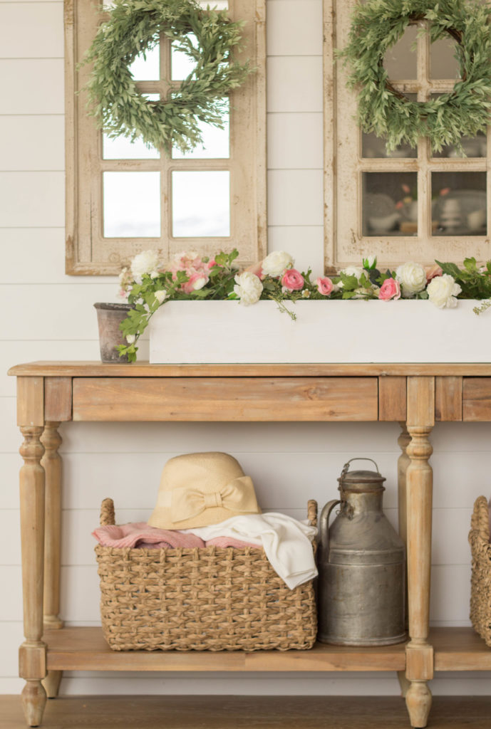 Diy Wood Planter Box Centerpiece Handmade Farmhouse